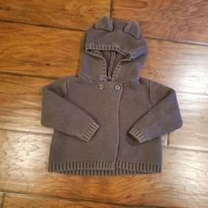 Baby Gap hooded sweater top